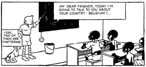 Tintin Congo classroom
