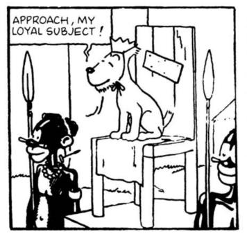 Tintin congo Milou the King