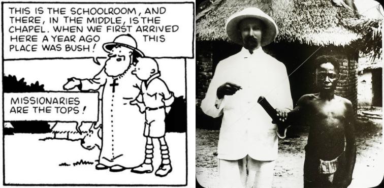 Tintin Congo missionaries